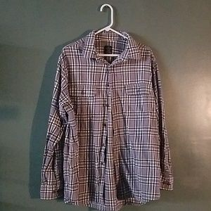 Faded glory light weight button up flannel